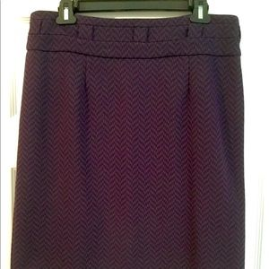 Herringbone pattern skirt
